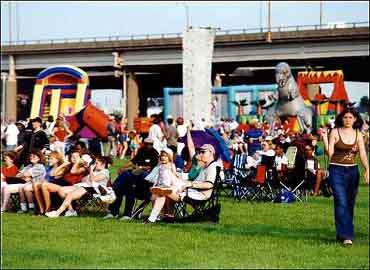 July 2001 Celebration at Louisville Waterfront Park